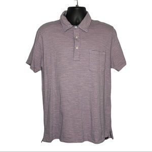Faherty Striped Polo Size Large